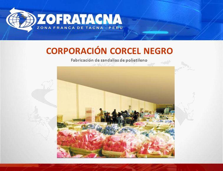 Fabricación de sandalias de polietileno CORPORACIÓN CORCEL NEGRO