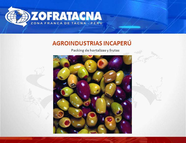 Packing de hortalizas y frutas AGROINDUSTRIAS INCAPERÚ