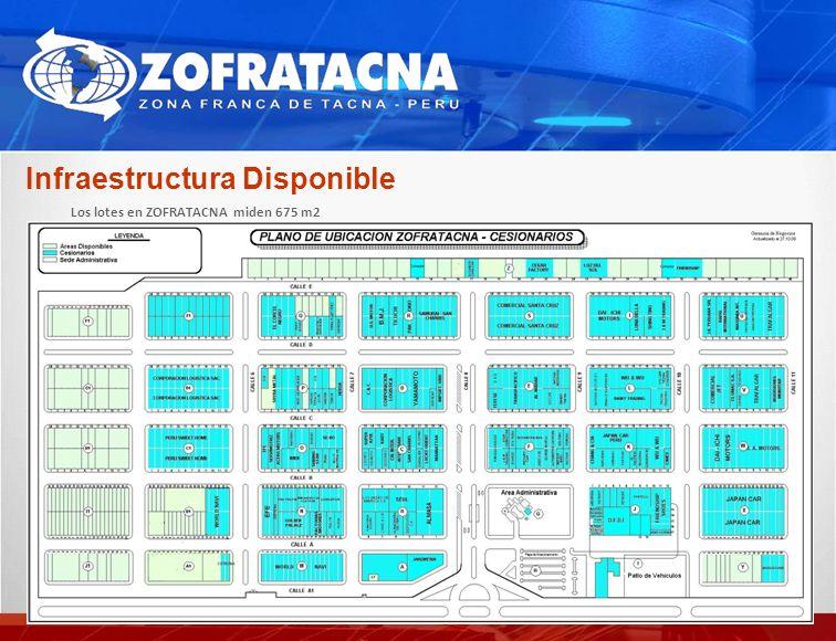 Infraestructura Disponible Los lotes en ZOFRATACNA miden 675 m2 Proyectado Call Center