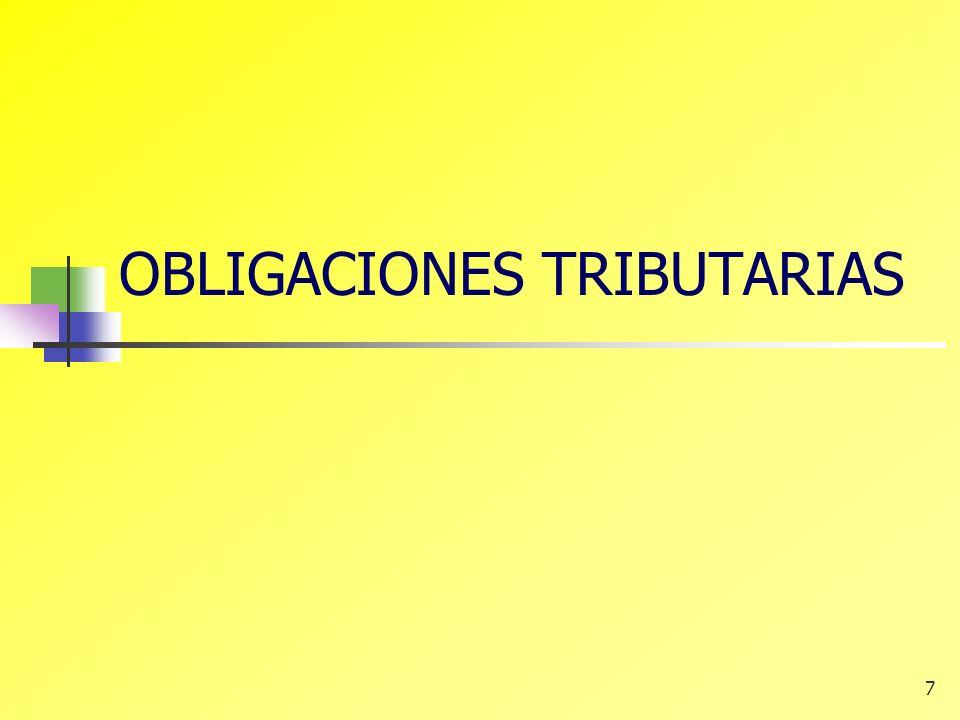 7 OBLIGACIONES TRIBUTARIAS