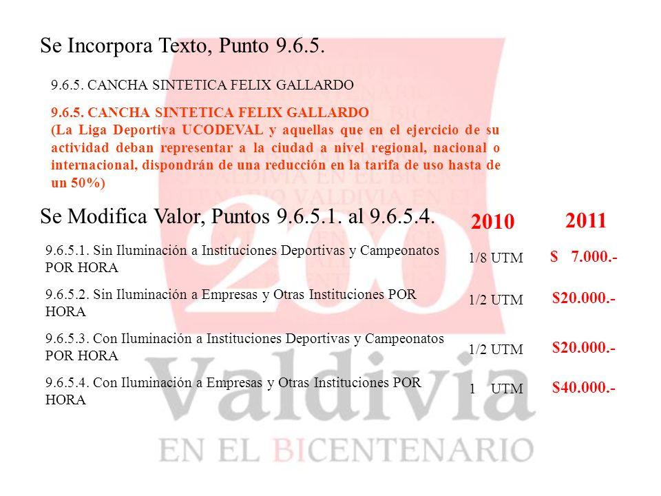 9.6.5. CANCHA SINTETICA FELIX GALLARDO Se Incorpora Texto, Punto 9.6.5.