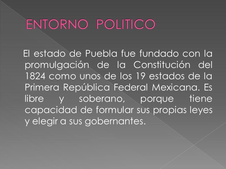 El estado de Puebla fue fundado con la promulgación de la Constitución del 1824 como unos de los 19 estados de la Primera República Federal Mexicana.