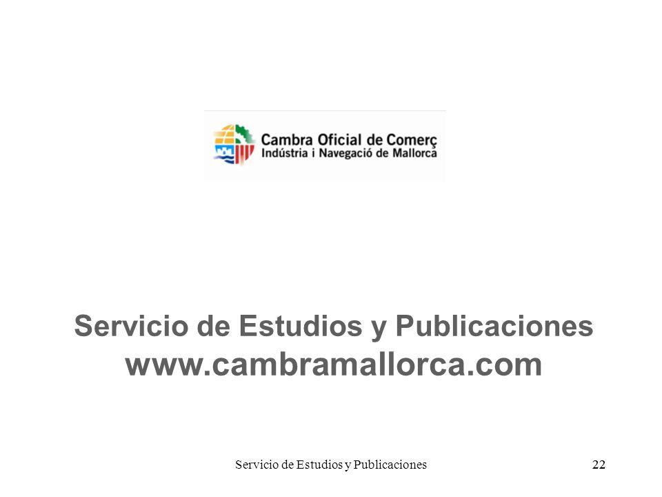 22 Servicio de Estudios y Publicaciones www.cambramallorca.com Servicio de Estudios y Publicaciones