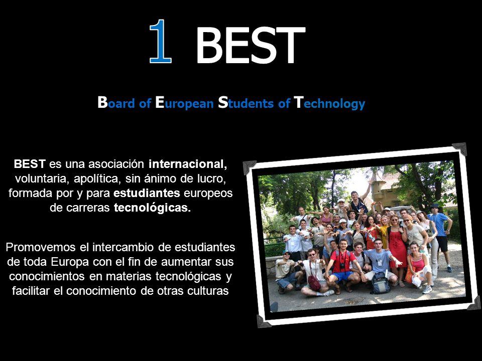 B oard of E uropean S tudents of T echnology BEST es una asociación internacional, voluntaria, apolítica, sin ánimo de lucro, formada por y para estudiantes europeos de carreras tecnológicas.