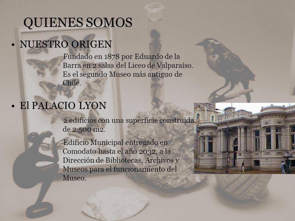 QUIENES SOMOS NUESTRO ORIGEN Fundado en 1878 por Eduardo de la Barra en 2 salas del Liceo de Valparaíso. Es el segundo Museo más antiguo de Chile.. El
