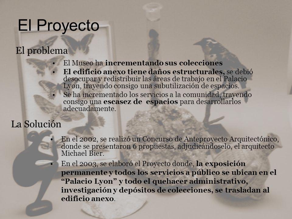 El Proyecto El problema La Solución El Museo ha incrementando sus colecciones El edificio anexo tiene daños estructurales, se debió desocupar y redist