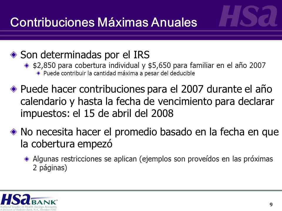 30 ¿Qué otras clases de cobertura de seguro puede un individuo tener con una cuenta HSA.