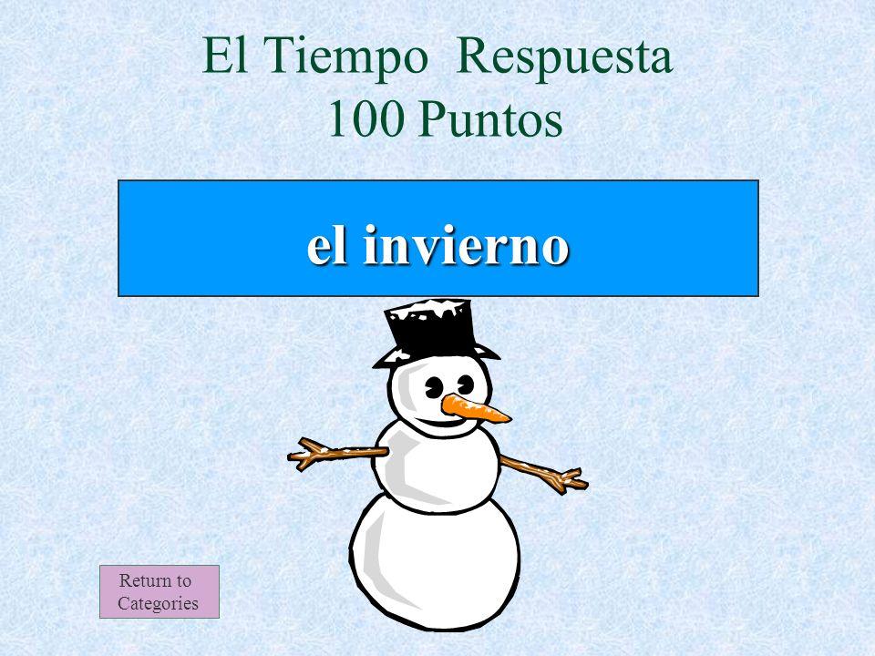 El Tiempo 100 Puntos Return to Categories ¿En qué estación nieva