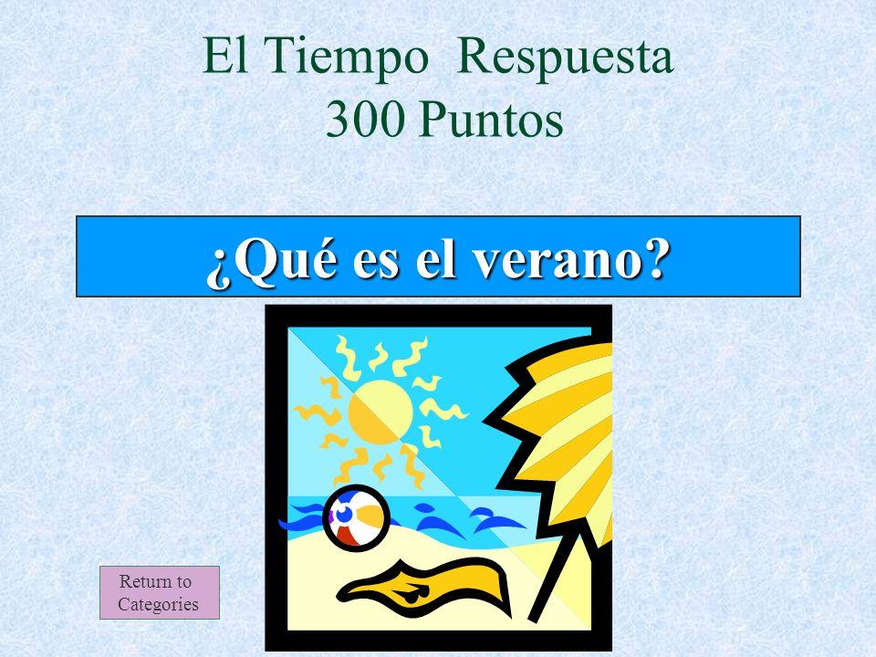El Tiempo 300 Puntos Return to Categories Típicamente en esta estación, muchas personas van de vacaciones a la playa.