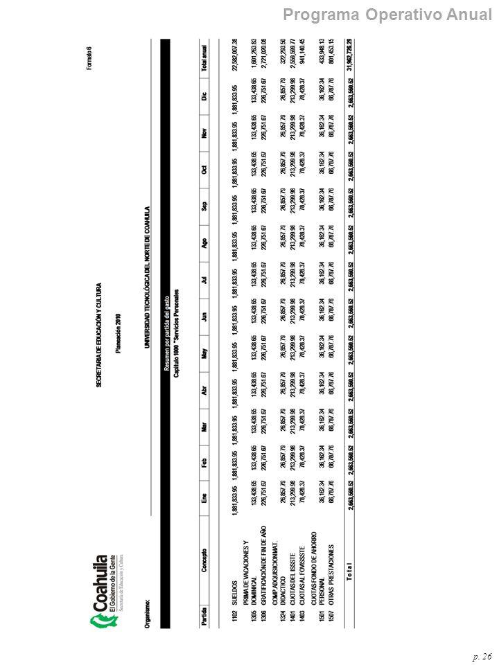 p. 26 Programa Operativo Anual