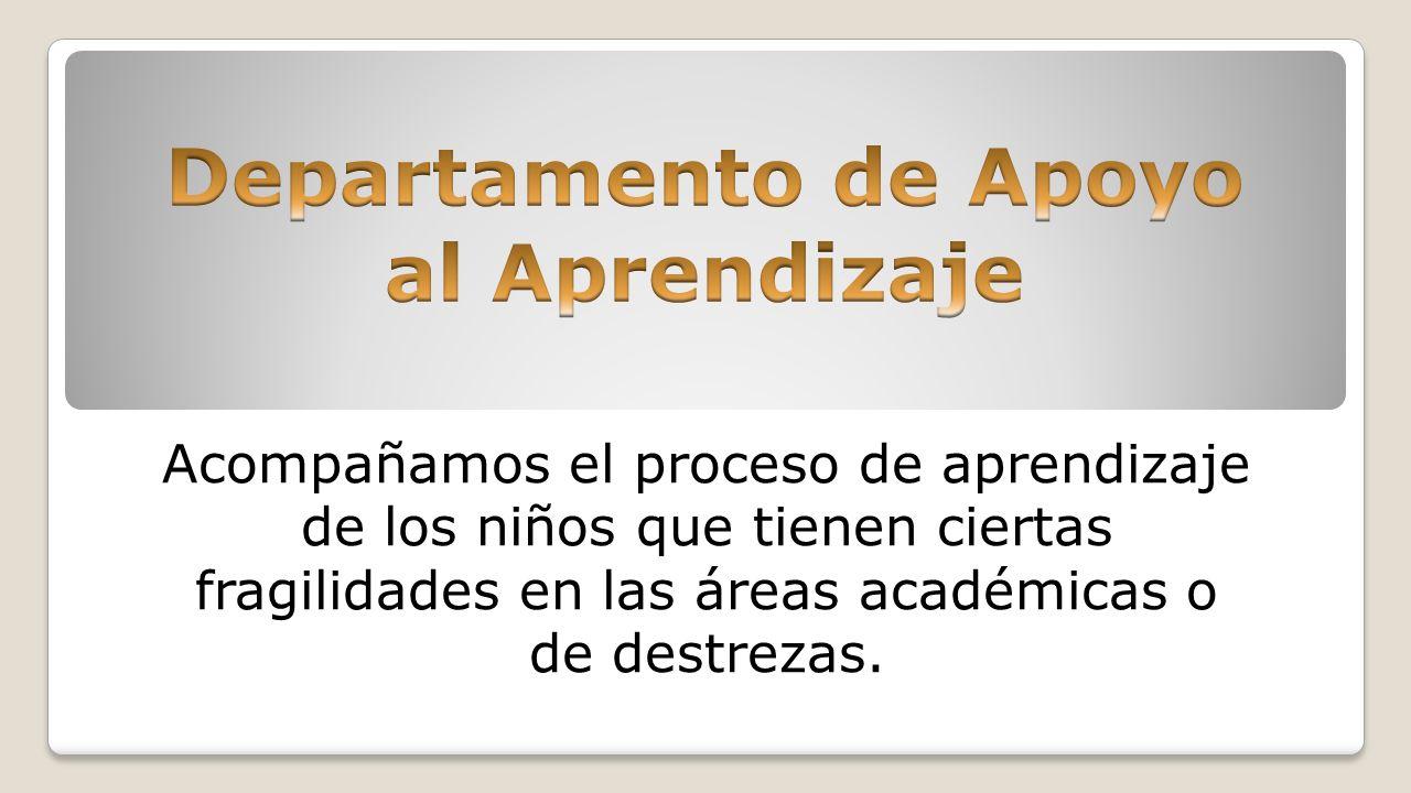 Acompañamos el proceso de aprendizaje de los niños que tienen ciertas fragilidades en las áreas académicas o de destrezas.