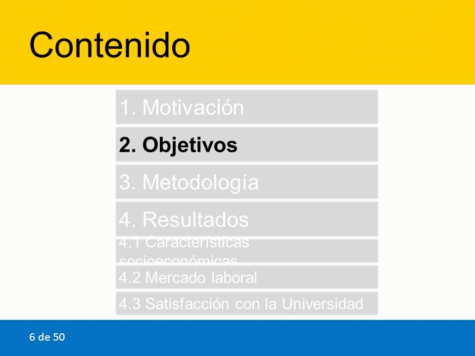 2.Objetivos 1.Obtener la caracterización socioeconómica de los recién egresados.