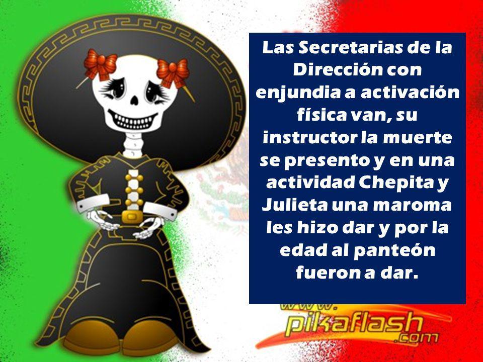 Las Secretarias de la Dirección con enjundia a activación física van, su instructor la muerte se presento y en una actividad Chepita y Julieta una mar