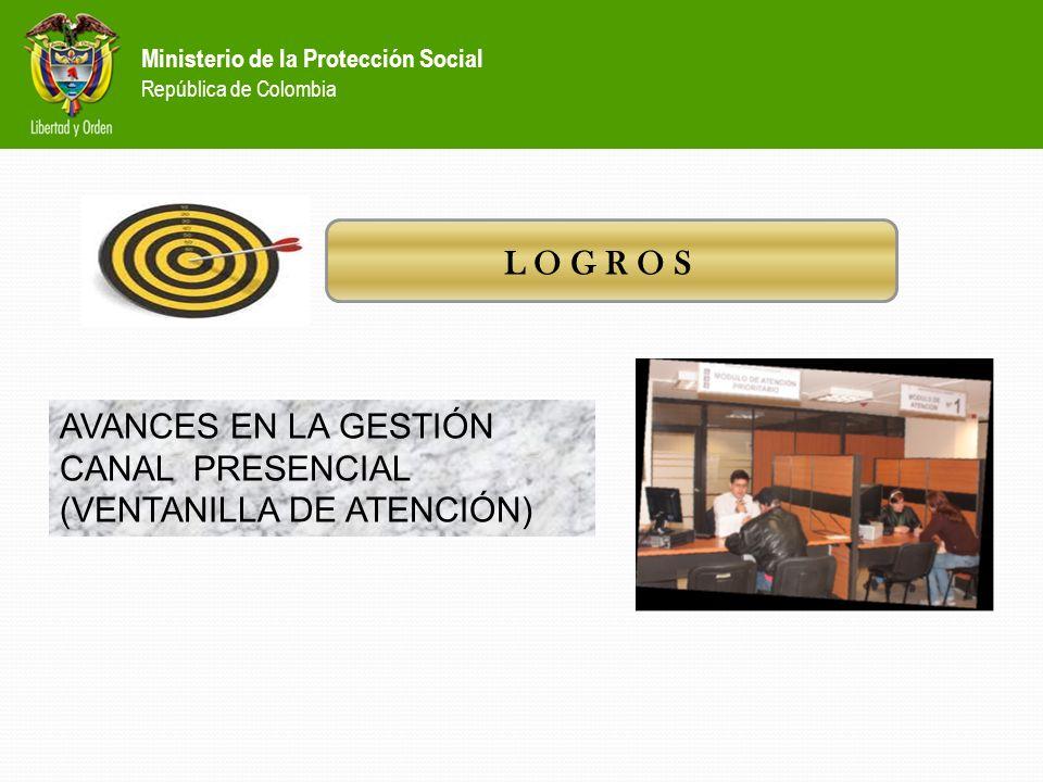 Ministerio de la Protección Social República de Colombia En la semana del 12 al 18 de febrero se presentan fallas tecnológicas que cerraron el sistema