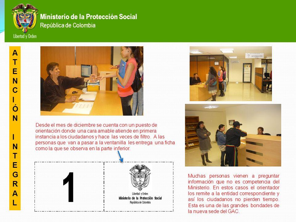 Ministerio de la Protección Social República de Colombia AVANCES EN LA GESTIÓN CANAL PRESENCIAL (VENTANILLA DE ATENCIÓN) L O G R O S
