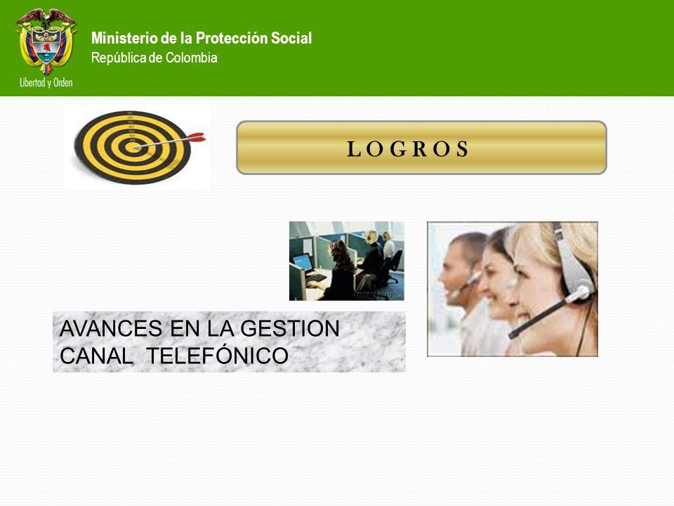 Ministerio de la Protección Social República de Colombia Implementación del formato único de registro Este formato permite estandarizar la información