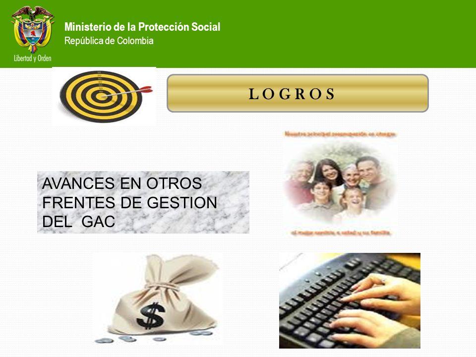 Ministerio de la Protección Social República de Colombia L O G R O S Una significativa mejora tendrá este año la atención telefónica a través del Cent