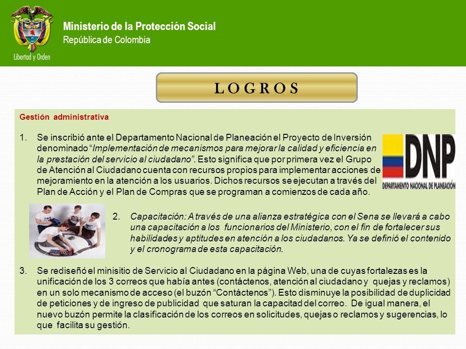 Ministerio de la Protección Social República de Colombia *Modificación normativa: *Se proyectó la resolución mediante la cual se creó el Sistema de At