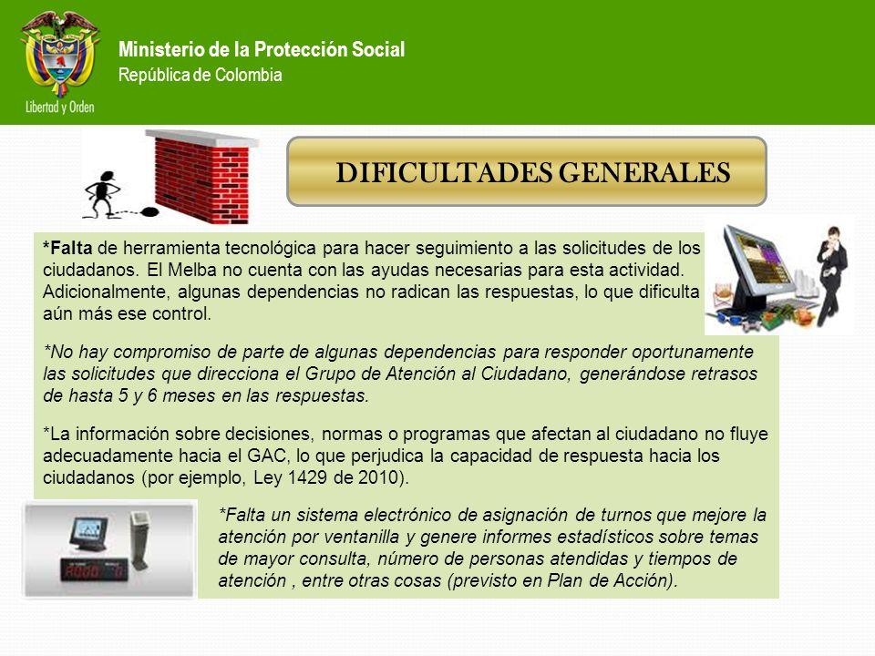 Ministerio de la Protección Social República de Colombia Gestión administrativa 1.Se inscribió ante el Departamento Nacional de Planeación el Proyecto