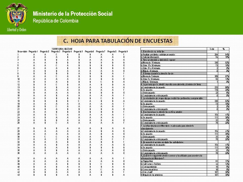 Ministerio de la Protección Social República de Colombia C. CORREOS POR FUNCIONARIOS