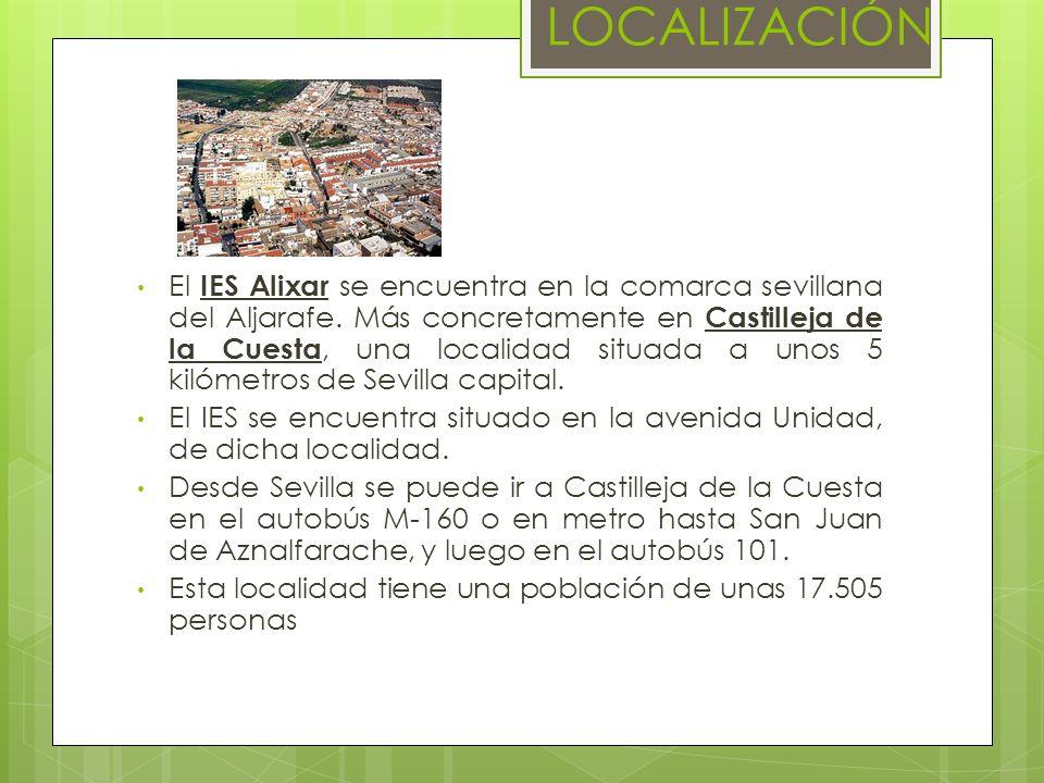 LOCALIZACIÓN El IES Alixar se encuentra en la comarca sevillana del Aljarafe. Más concretamente en Castilleja de la Cuesta, una localidad situada a un