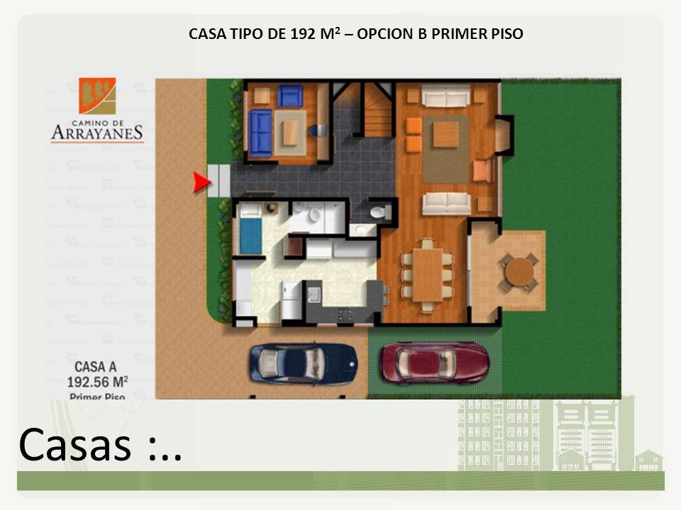 Casas :.. CASA TIPO DE 192 M 2 – OPCION B PRIMER PISO