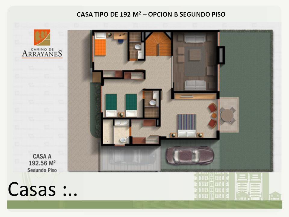 Casas :.. CASA TIPO DE 192 M 2 – OPCION B SEGUNDO PISO