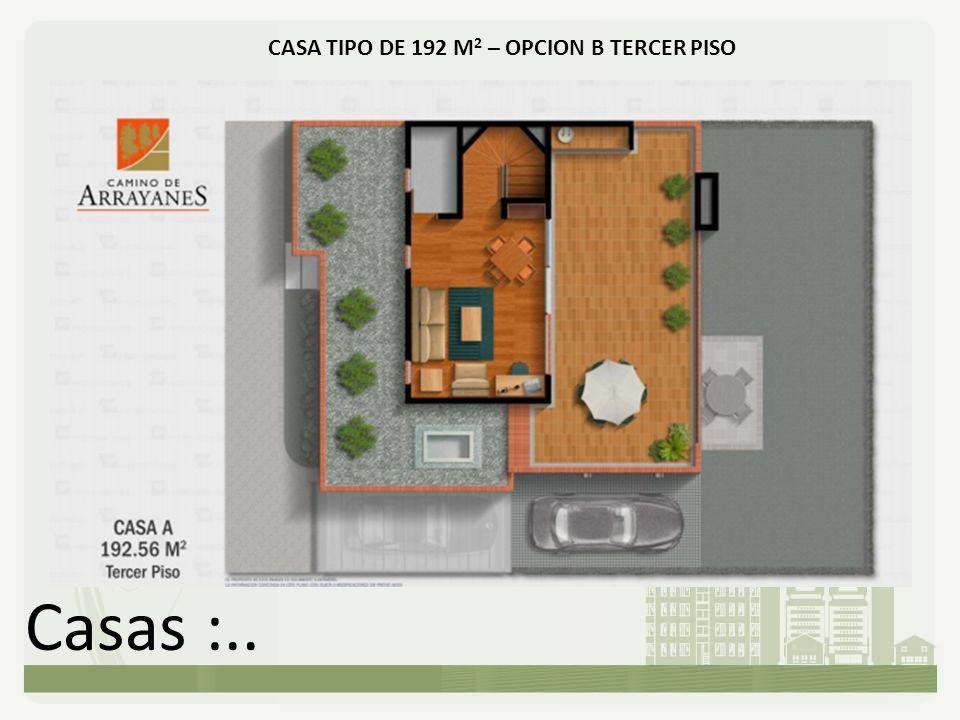 Casas :.. CASA TIPO DE 192 M 2 – OPCION B TERCER PISO