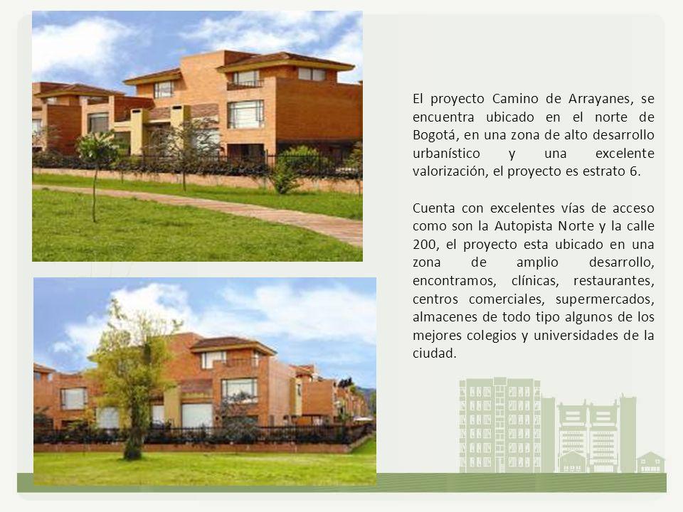 El proyecto Camino de Arrayanes, se encuentra ubicado en el norte de Bogotá, en una zona de alto desarrollo urbanístico y una excelente valorización,