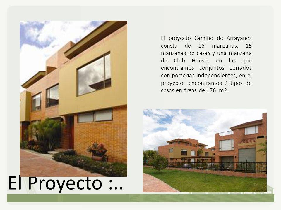 El Proyecto :.. El proyecto Camino de Arrayanes consta de 16 manzanas, 15 manzanas de casas y una manzana de Club House, en las que encontramos conjun