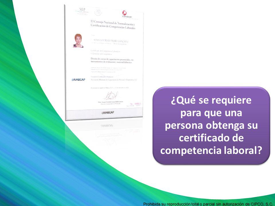 Prohibida su reproducción total o parcial sin autorización de CIPCO, S.C Prohibida su reproducción total o parcial sin autorización de CIPCO, S.C. ¿Qu