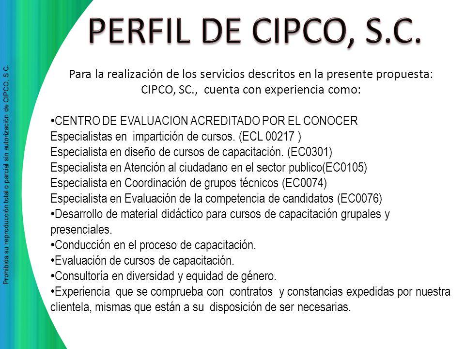 Prohibida su reproducción total o parcial sin autorización de CIPCO, S.C Prohibida su reproducción total o parcial sin autorización de CIPCO, S.C. Par