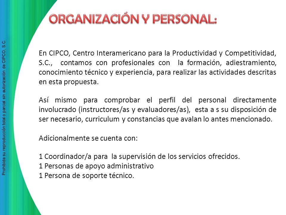 Prohibida su reproducción total o parcial sin autorización de CIPCO, S.C Prohibida su reproducción total o parcial sin autorización de CIPCO, S.C. En