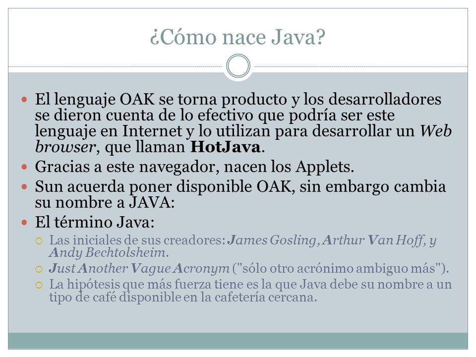 ¿Cómo nace Java? El lenguaje OAK se torna producto y los desarrolladores se dieron cuenta de lo efectivo que podría ser este lenguaje en Internet y lo