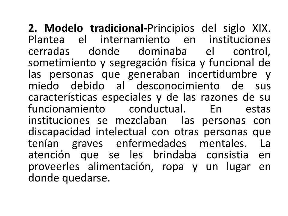 2.Modelo tradicional-Principios del siglo XIX.