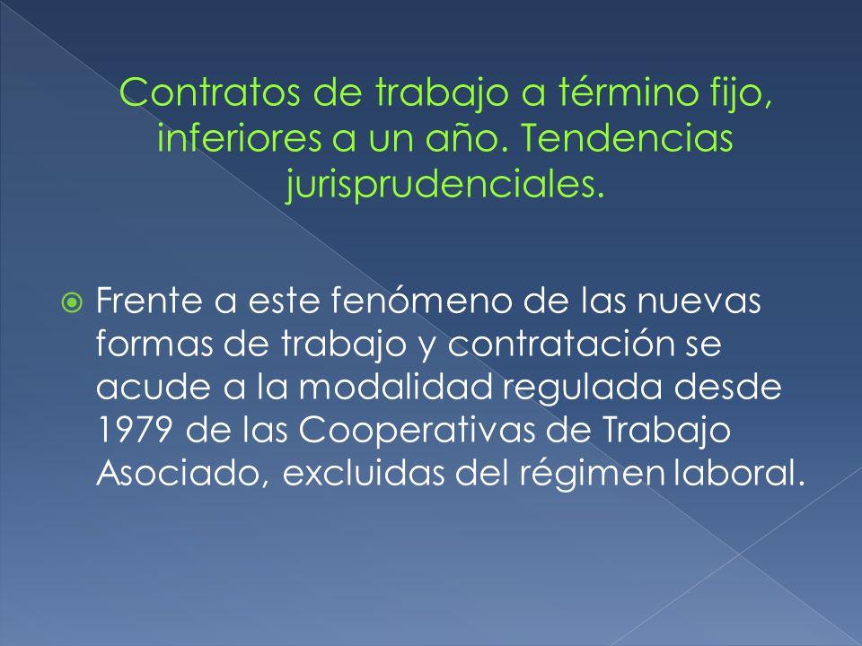 Frente a este fenómeno de las nuevas formas de trabajo y contratación se acude a la modalidad regulada desde 1979 de las Cooperativas de Trabajo Asoci