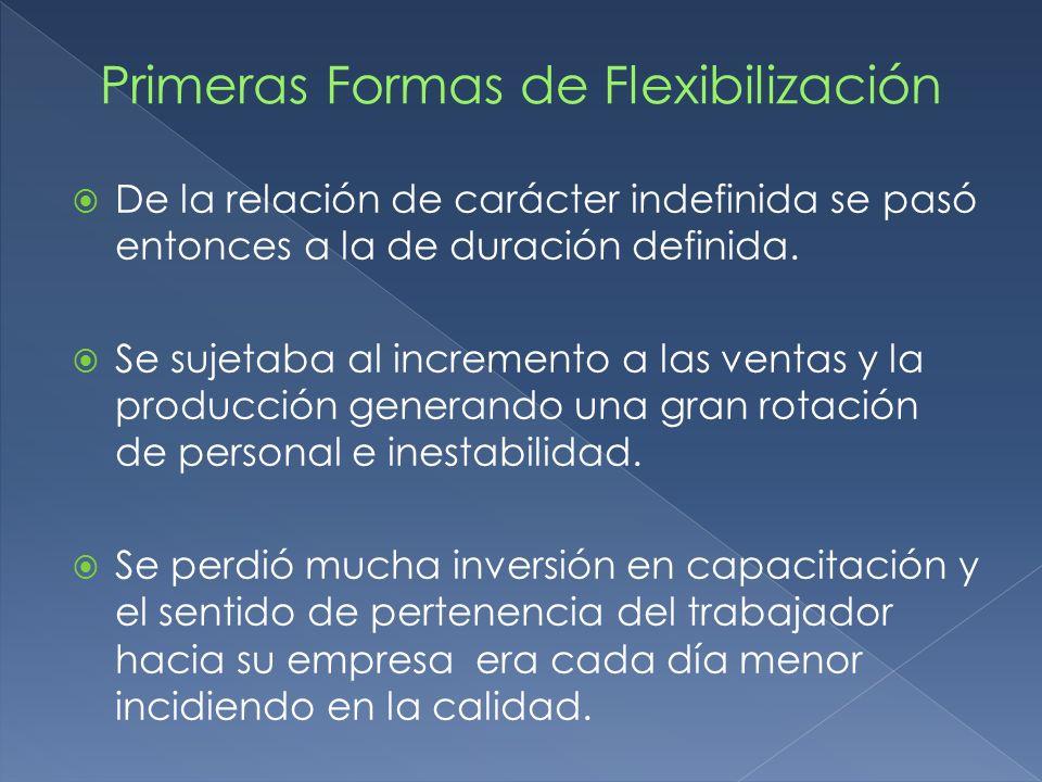 Se han generado abusos en la Tercerización buscando la flexibilidad.