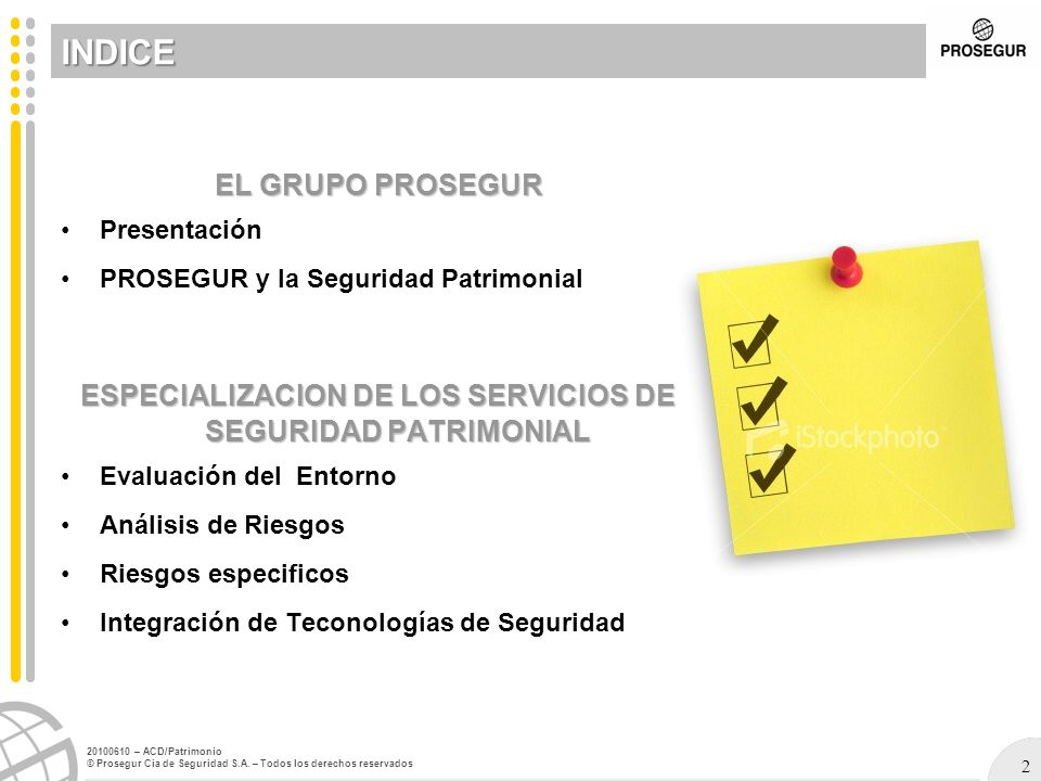 43 20100610 – ACD/Patrimonio © Prosegur Cia de Seguridad S.A.