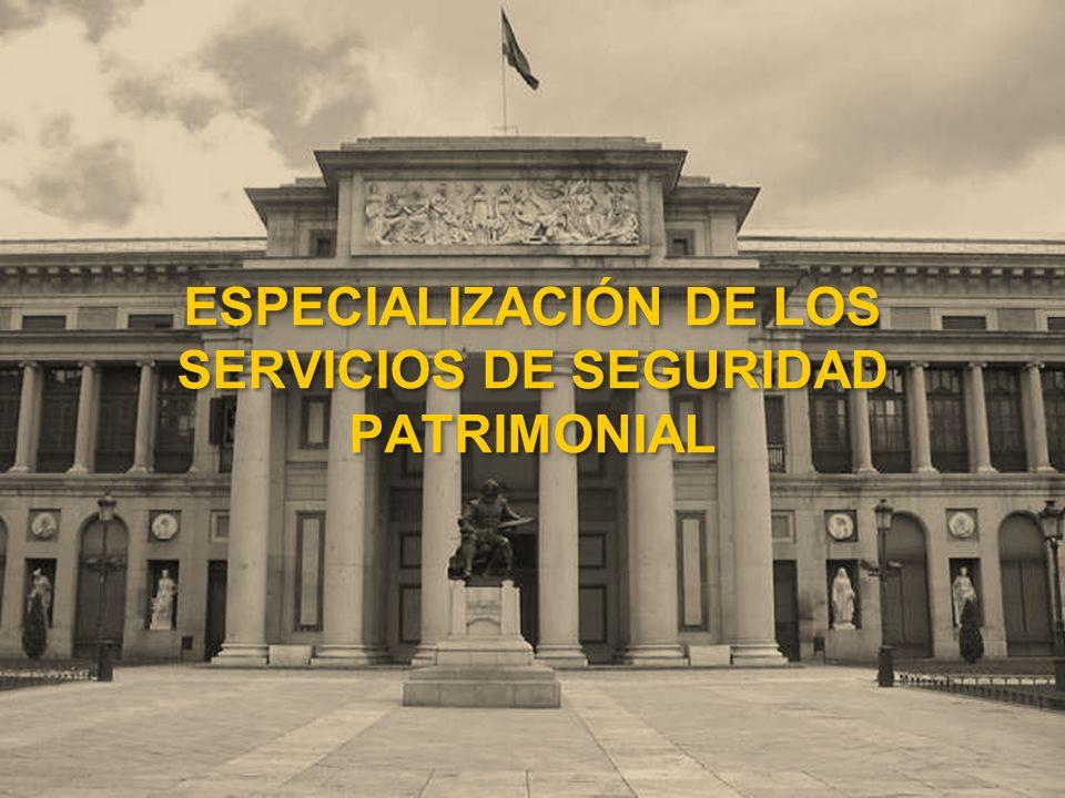 ESPECIALIZACIÓN DE LOS SERVICIOS DE SEGURIDAD PATRIMONIAL
