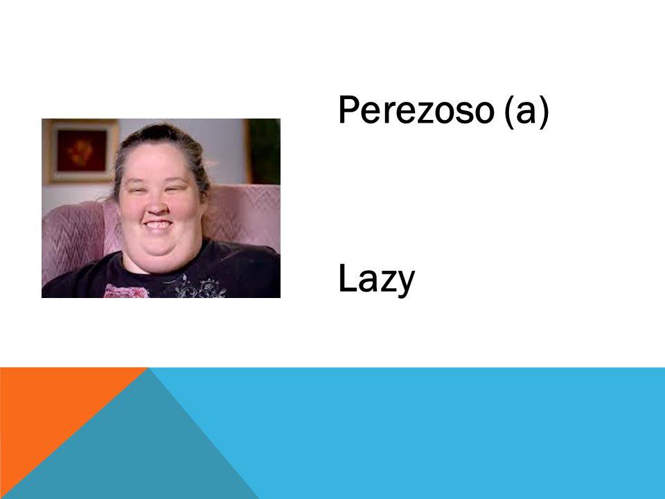Perezoso (a) Lazy