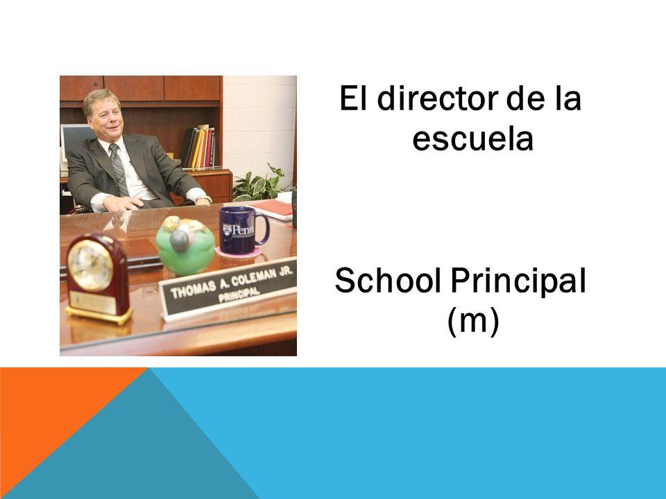 El director de la escuela School Principal (m)