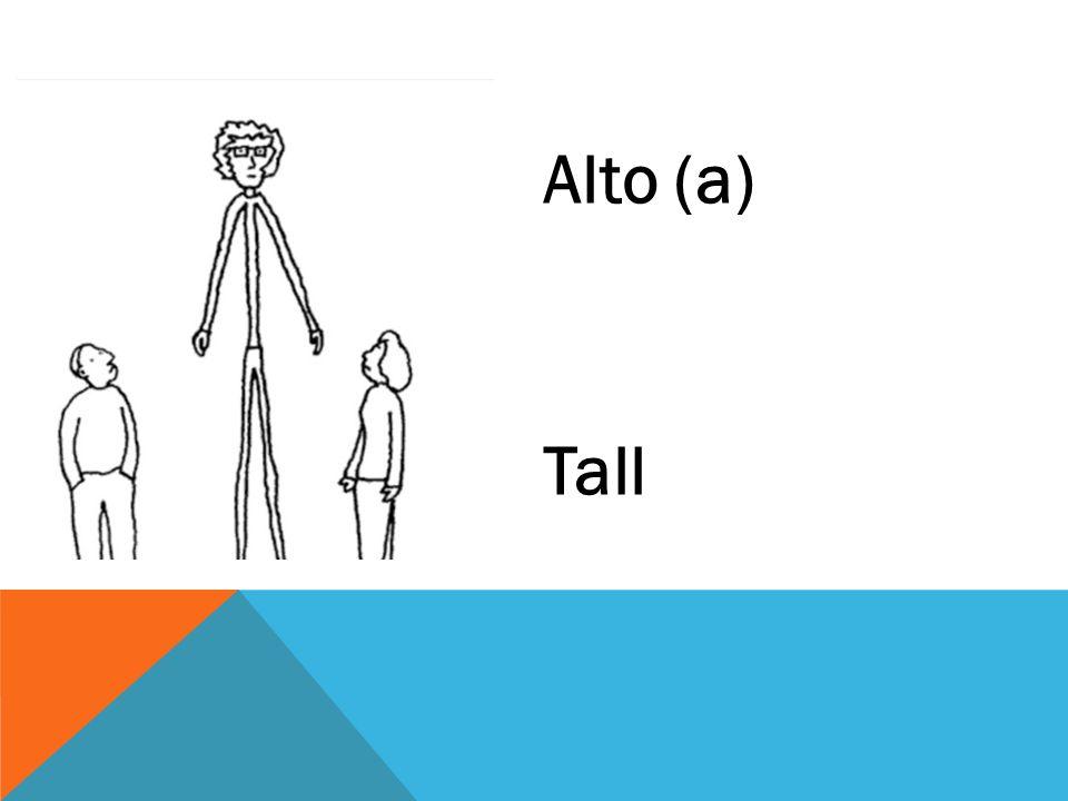 Alto (a) Tall
