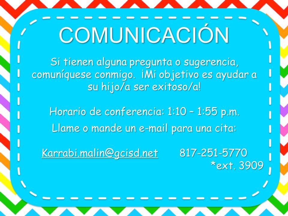 APOYO DE LOS PADRES Por favor revise y firme su calendario cada día.