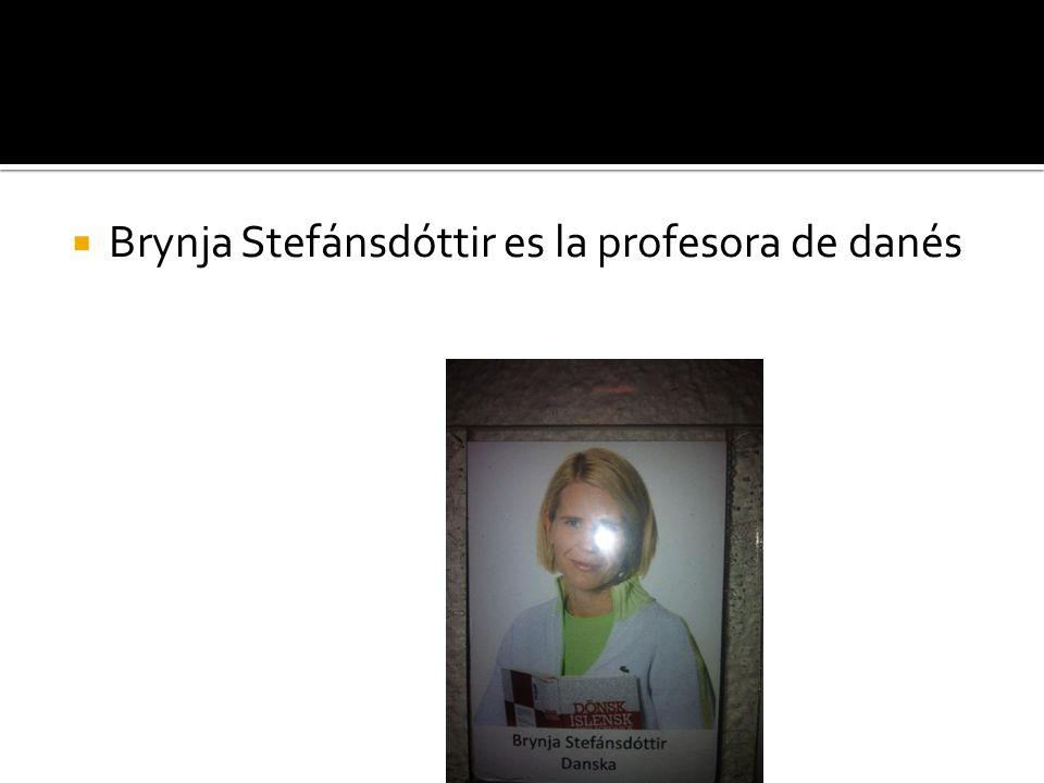 Brynja Stefánsdóttir es la profesora de danés