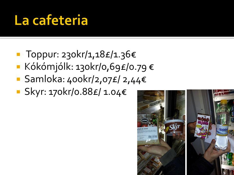 Menú La comida precio 850 kr/4,39£/5,18