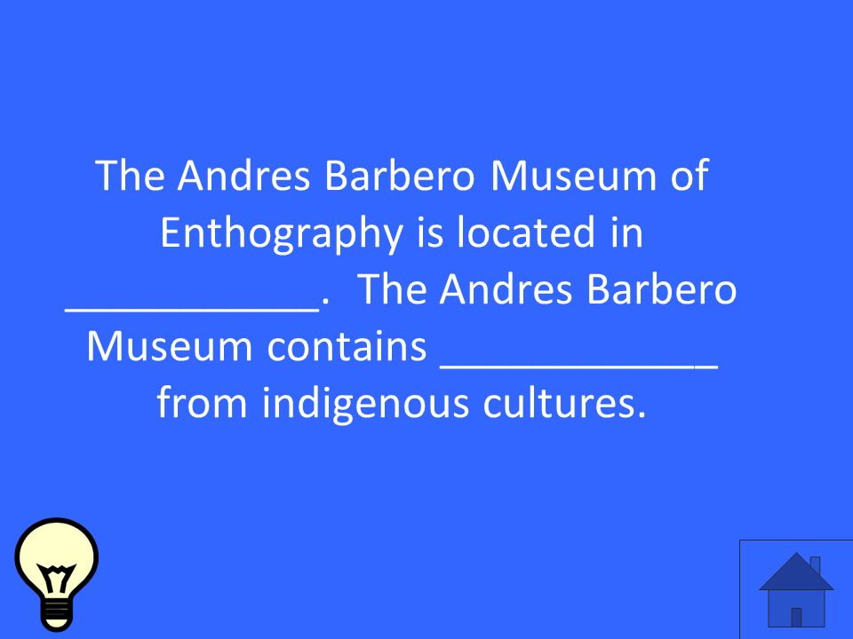The Andres Barbero Museum of Enthography is located in ___________.