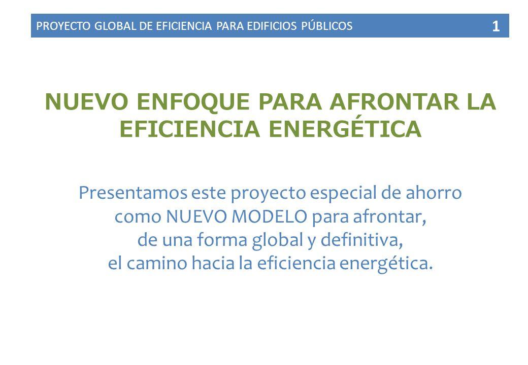 NUEVO ENFOQUE PARA AFRONTAR LA EFICIENCIA ENERGÉTICA Presentamos este proyecto especial de ahorro como NUEVO MODELO para afrontar, de una forma global y definitiva, el camino hacia la eficiencia energética.
