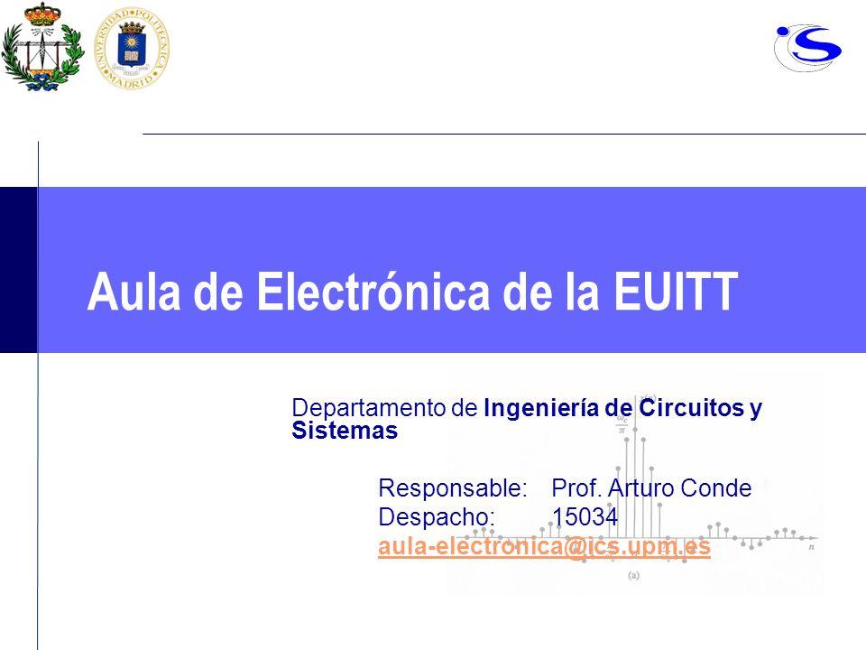Aula de Electrónica de la EUITT Departamento de Ingeniería de Circuitos y Sistemas Responsable: Prof. Arturo Conde Despacho: 15034 aula-electronica@ic