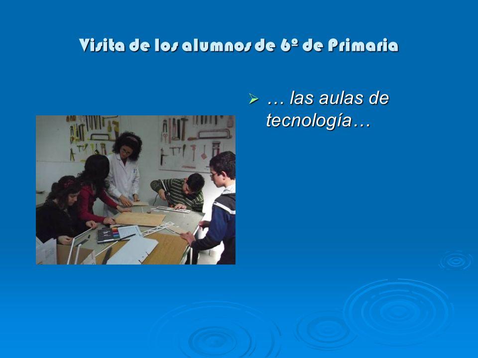 Visita de los alumnos de 6º de Primaria … y un laboratorio de ensayos físicos correspondiente a la familia profesional química.