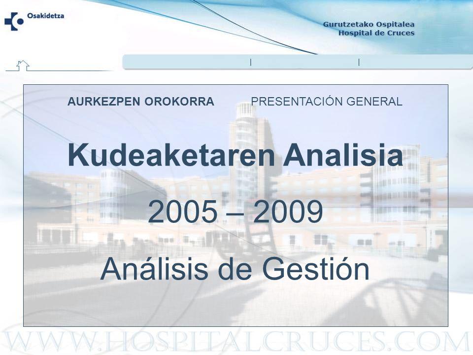 AURKEZPEN OROKORRA PRESENTACIÓN GENERAL Kudeaketaren Analisia 2005 – 2009 Análisis de Gestión